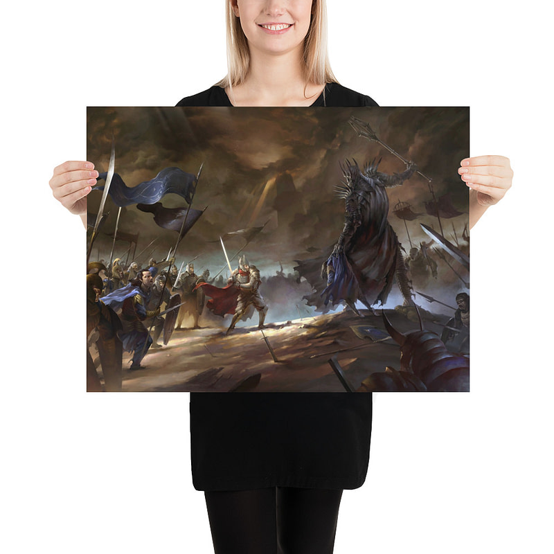 enhanced matte paper poster in 18x24 person 6105d134b8807