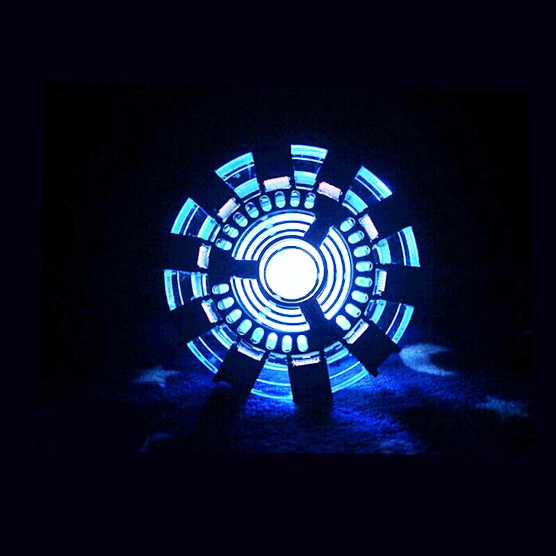 Cool 1 1 scale Iron Man Arc Reactor glowing iron man heart model with LED Light