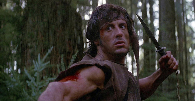 Cuchillos en las peliculas de Rambo