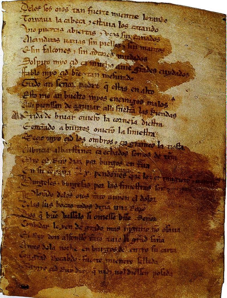 historia del caballero castellano Rodrigo Díaz de Vivar...poema  anionimo El Cantar de Mio Cid
