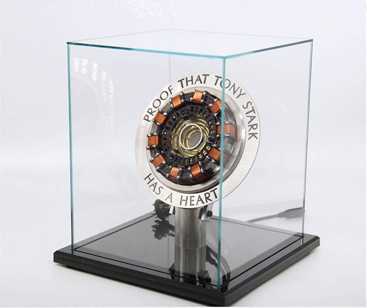 gracioso muy fresco escala 1 1 reactor de arco una generacion de modelo de corazon de iron man que brilla intensamente con la figura de