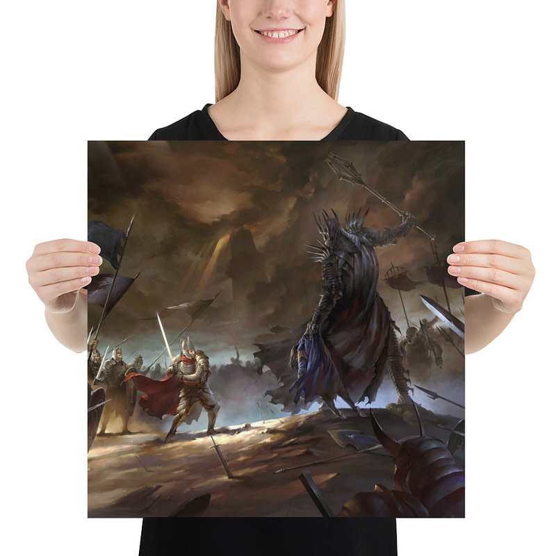 enhanced matte paper poster in 18x18 person 6105d134b8737