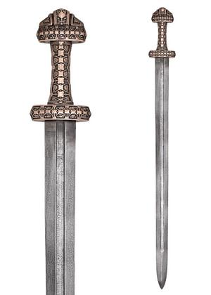 Espada vikinga Isla de Eigg Real replica museo