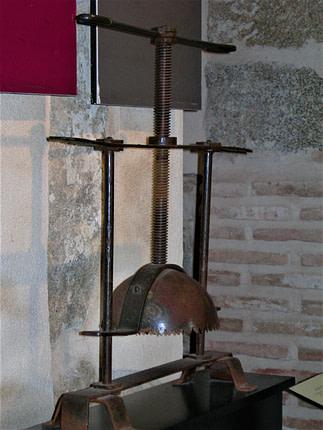 instrumentos de tortura, el aplastacabezas