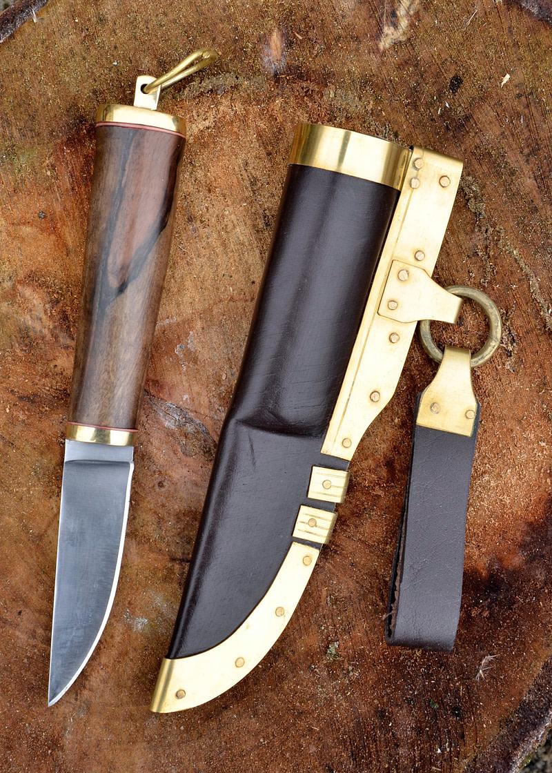 Cuchillo vikingo con empuñadura de nogal 21 cm 0369110031