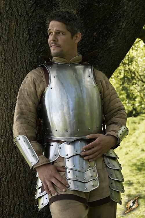 peto de armadura medieval funcional guerrero