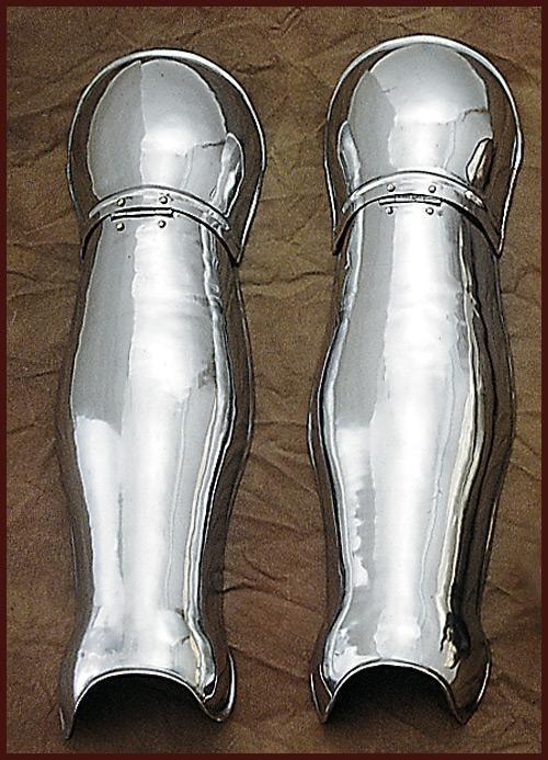 quijotes, musleras, protectores de rodilla medievales funcionales