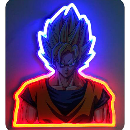 Lampara mural neon Goku Dragon Ball Z