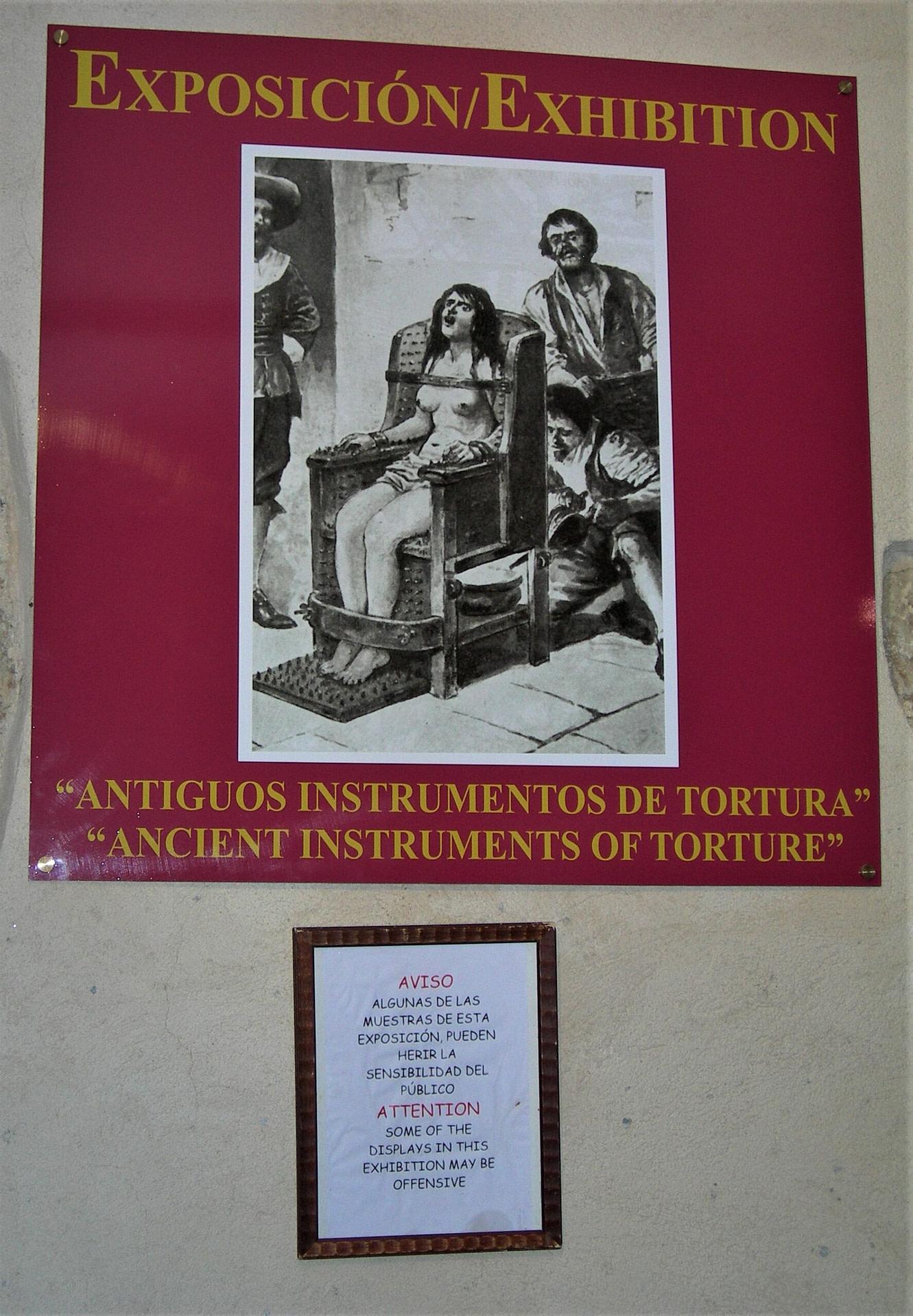 instrumentos de tortura, exposición de Toledo, Inquisición
