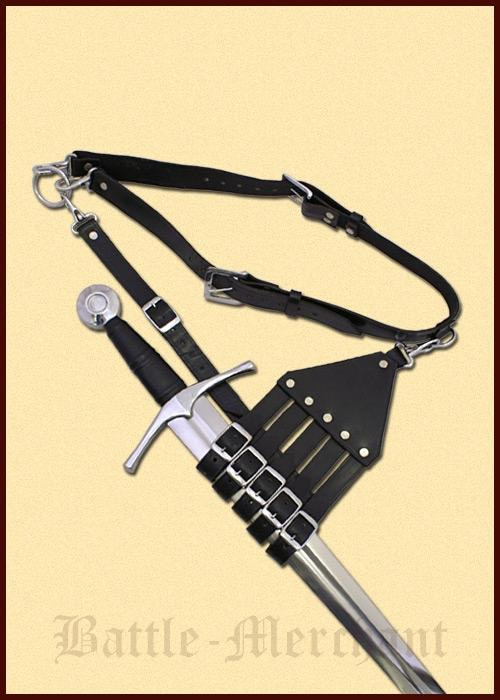 0101050400 Cinturón con soporte para espadas, sables y espadas
