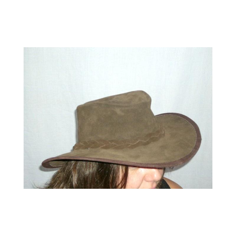 sombrero australiano de serraje marron