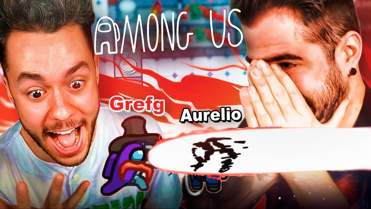 TheGrefg y Auronplay reaccionan al nuevo mapa de Among Us