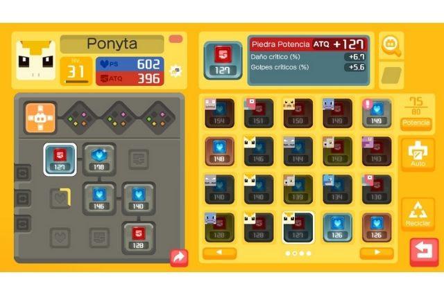 potencia y vida de ponyta en pokemon quest
