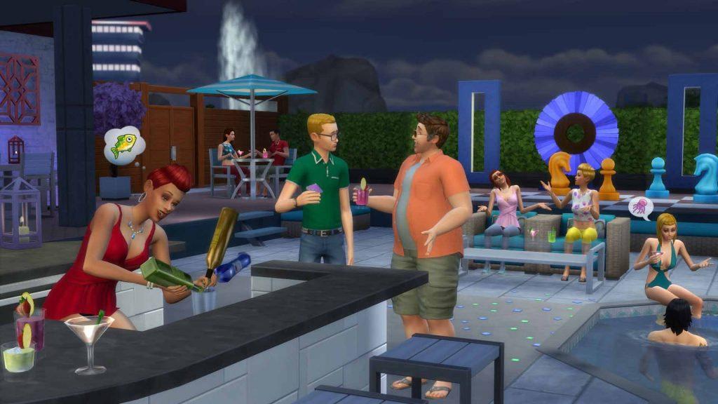 Los Sims 4 Patio de Ensueño