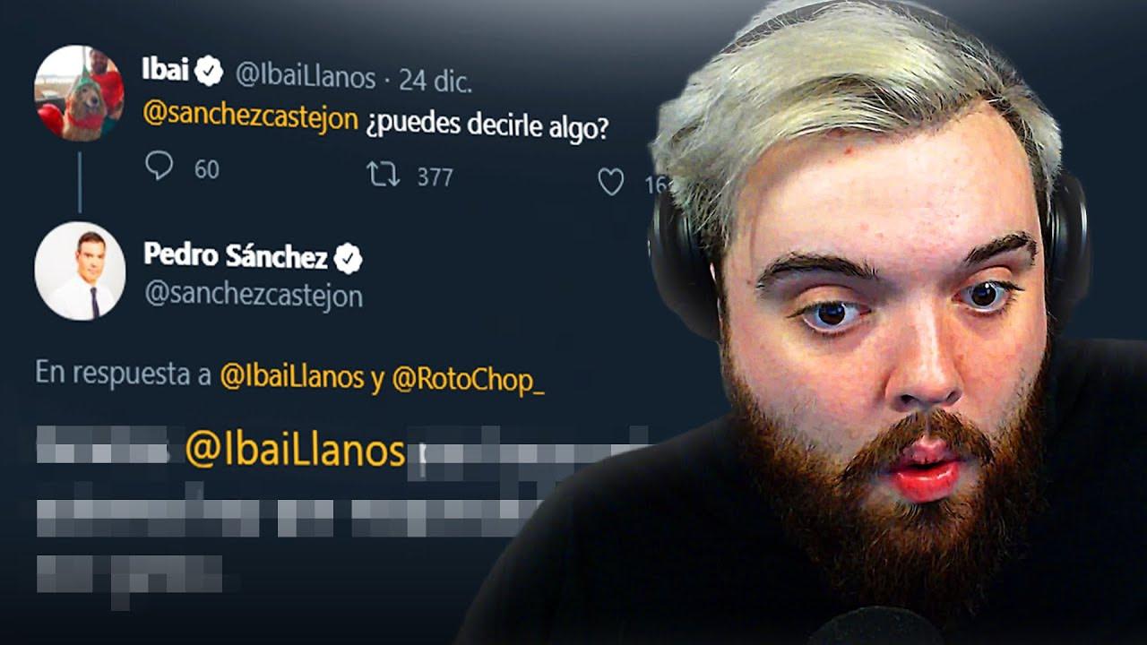 Pedro Sanchez felicita a Ibai por navidad en Twitter