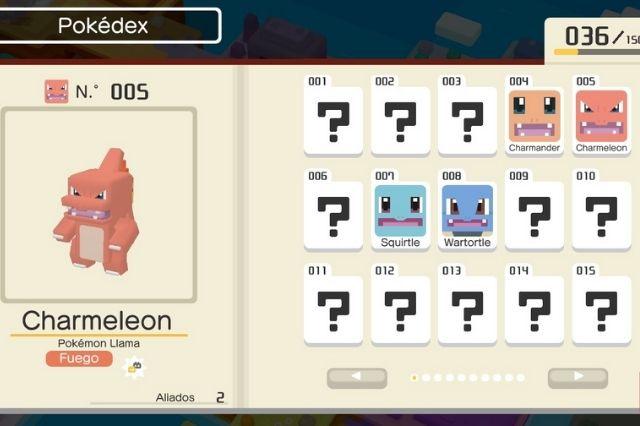 listado de pokémon en pokédex de pokémon quest
